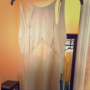 Beautiful 100% Silk Beige Dress
